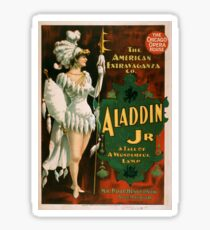 Vintage poster - Aladdin Jr. Sticker