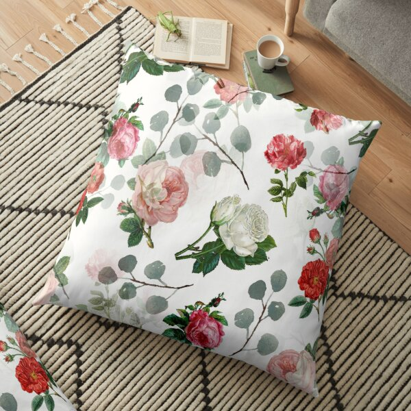 The Vintage Rose Floor Pillow
