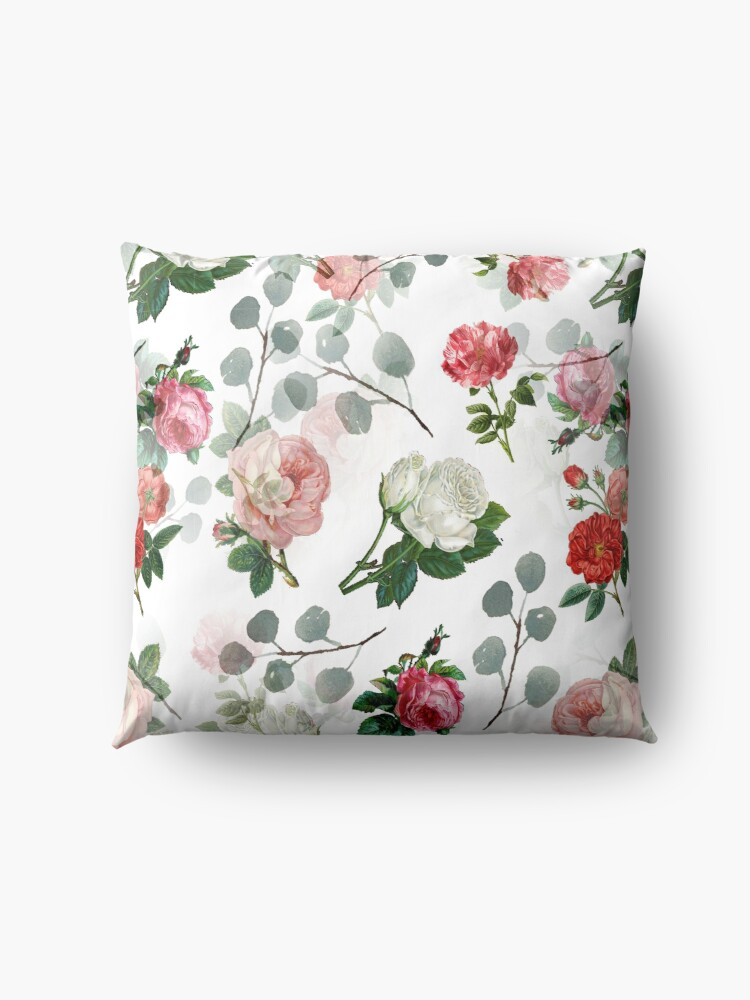 Alternate view of The Vintage Rose Floor Pillow