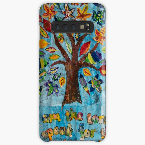 HHPS Art Show, Class 1T, Recycled Paper and Paint: We Speak for the Trees…. Samsung Galaxy Snap Case