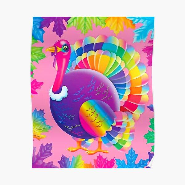 Y2k aesthetic Lisa Frank turkey  Poster