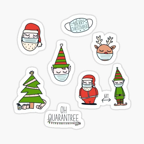 Merry quarantined Christmas 2020 pack Sticker