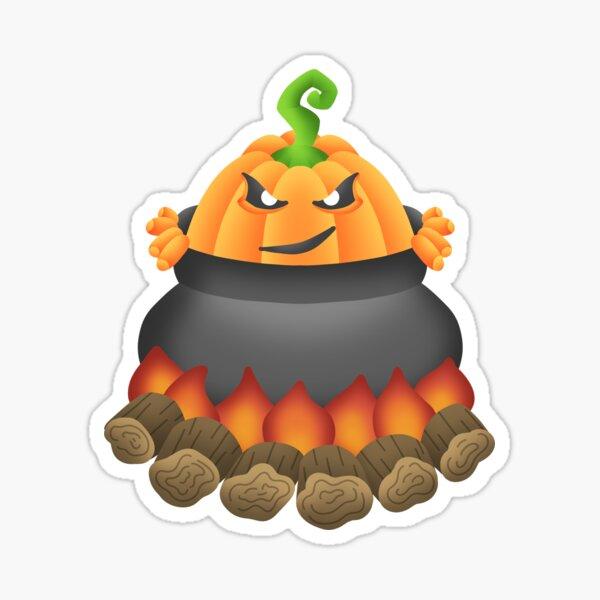 Pumpkin Monster Sticker