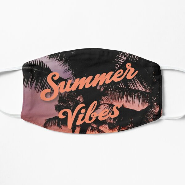 Summer Vibes -Palms Flat Mask