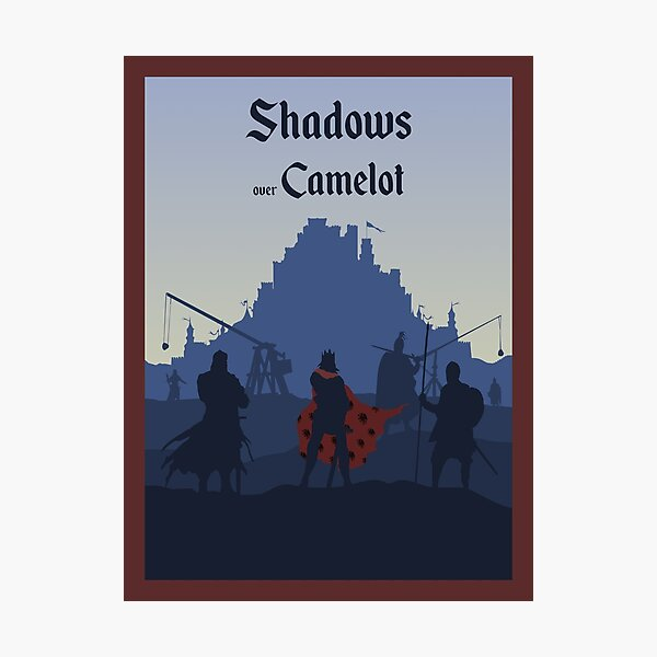 Shadows over Camelot - Board Game- Minimalist Travel Poster Style - Gaming Art Photographic Print