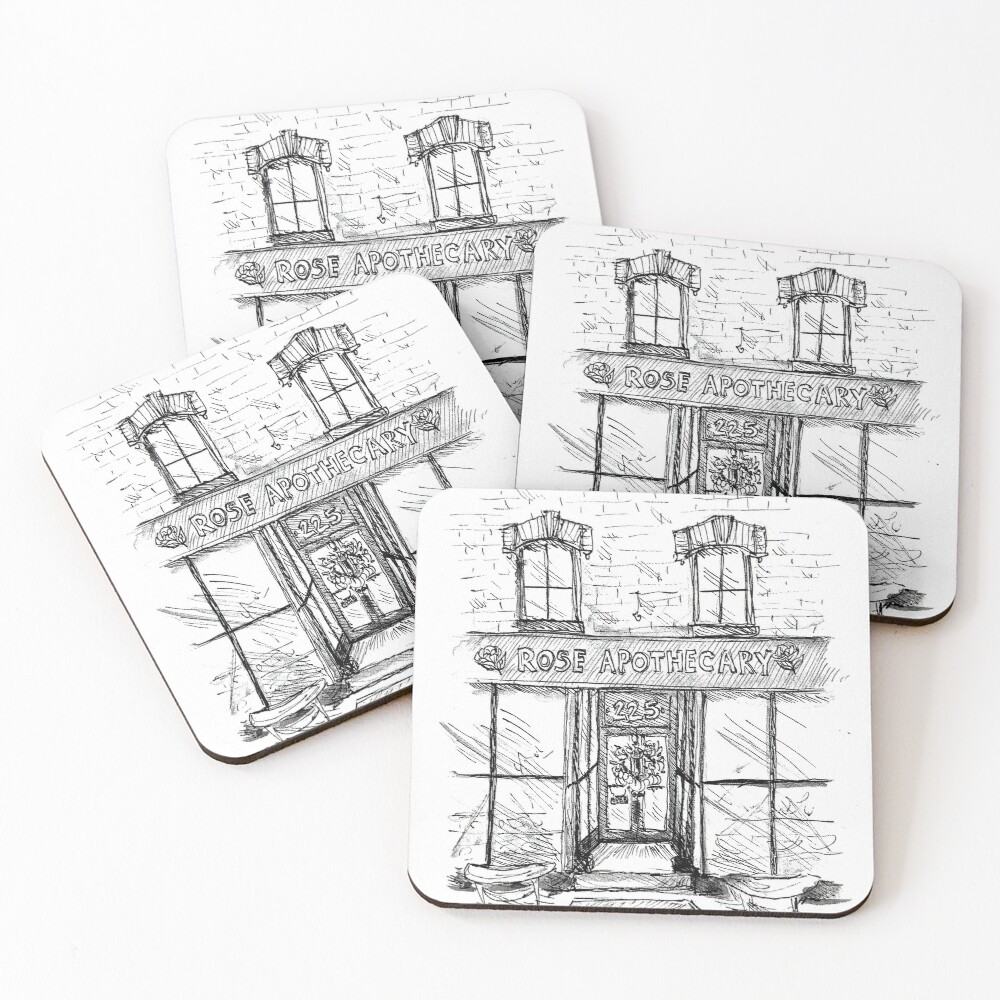 Rose Apothecary Coasters (Set of 4)
