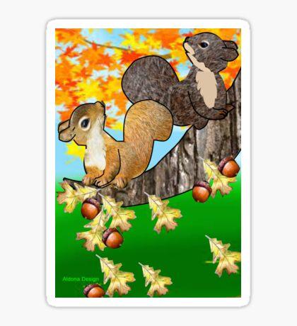 Squirrel with Acorn (2794  Views) Sticker
