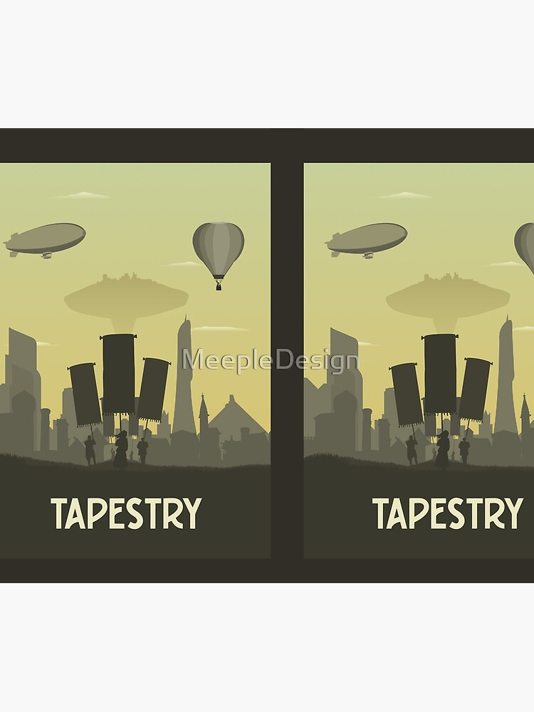 Tapestry - Board Game- Minimalist Travel Poster Style - Gaming Art by MeepleDesign