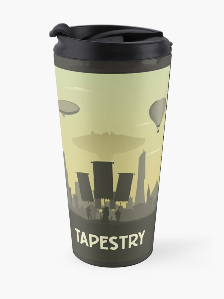 Alternate view of Tapestry - Board Game- Minimalist Travel Poster Style - Gaming Art Travel Mug