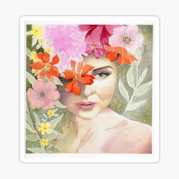 In Her Head (#2) Sticker