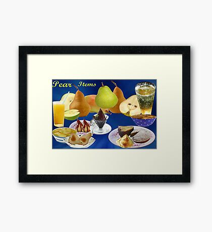 All about Pears (3421  views) Framed Print