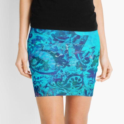 Batik azul Minifalda