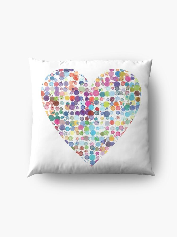 Alternate view of Kaleidoscope Heart Floor Pillow