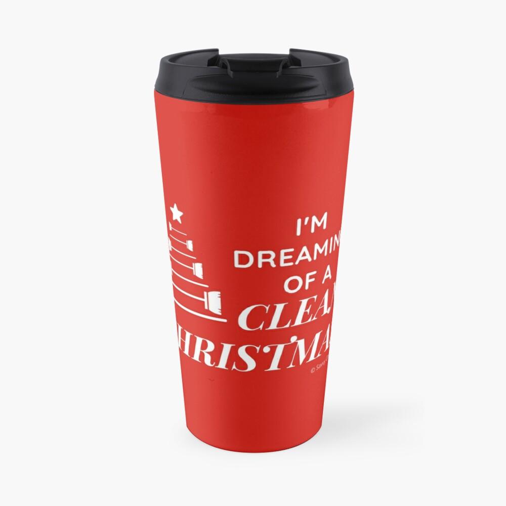 I'm Dreaming of a Clean Christmas Travel Mug