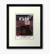 Solid - Metal Gear Framed Print