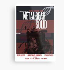Solid - Metal Gear Metal Print