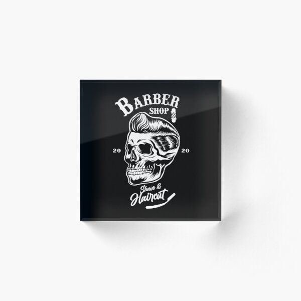 BARBER SHOP - Shave & Haircut Acrylic Block