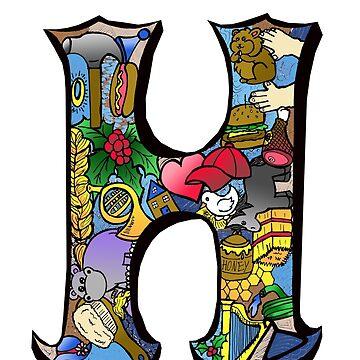 Doodle Letter H by missmann