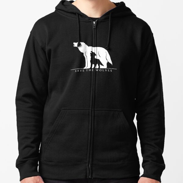 Save the Wolves Zipped Hoodie