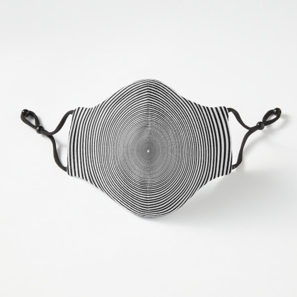 Fitted Masks, Optical illusion Concentric Circles Geometric Art, концентрические круги Fitted 3-Layer