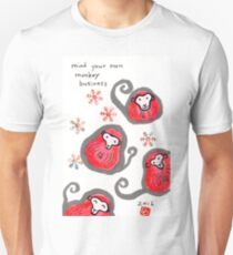 Monkey-Faced Daruma Dolls (Year of the Monkey) Unisex T-Shirt
