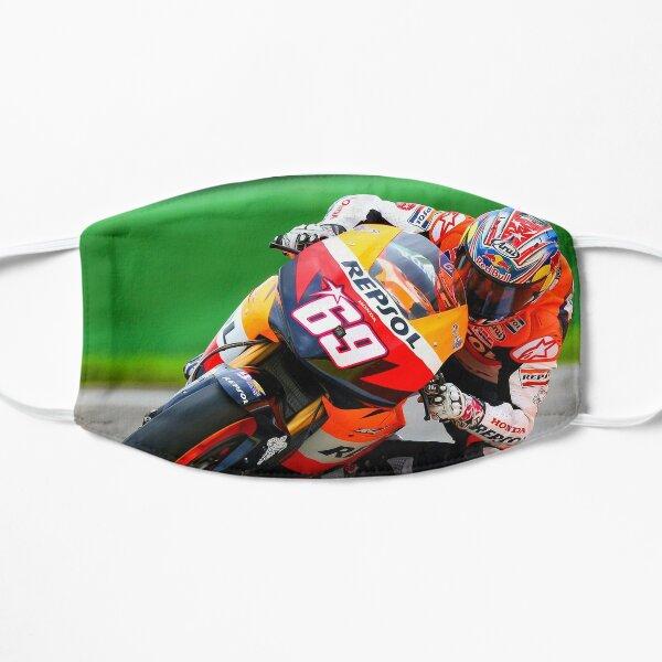 Nicky Hayden racing through a corner Flat Mask