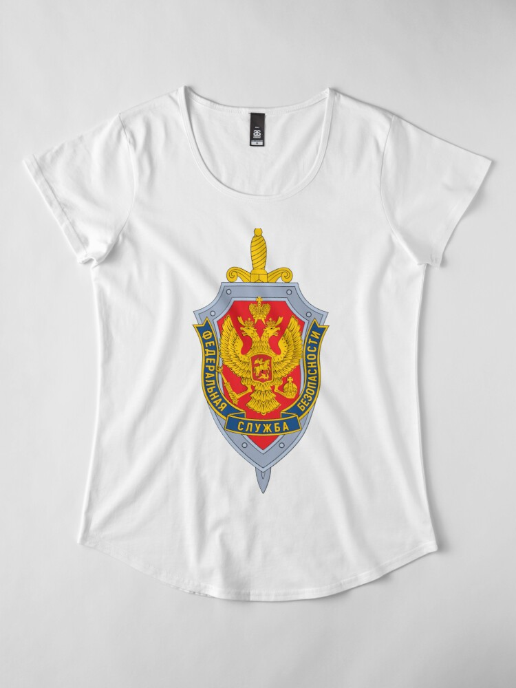 Alternate view of Emblem of the Russian Federal Security Service Premium Scoop T-Shirt