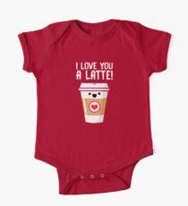 Body de manga corta para bebé Latte Love