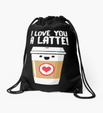 Latte Love Drawstring Bag