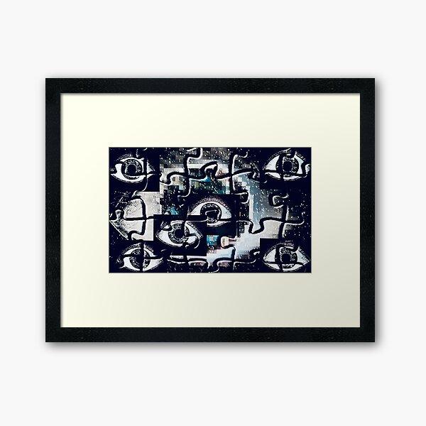 Puzzlespiele Augen Pixel Gerahmter Kunstdruck