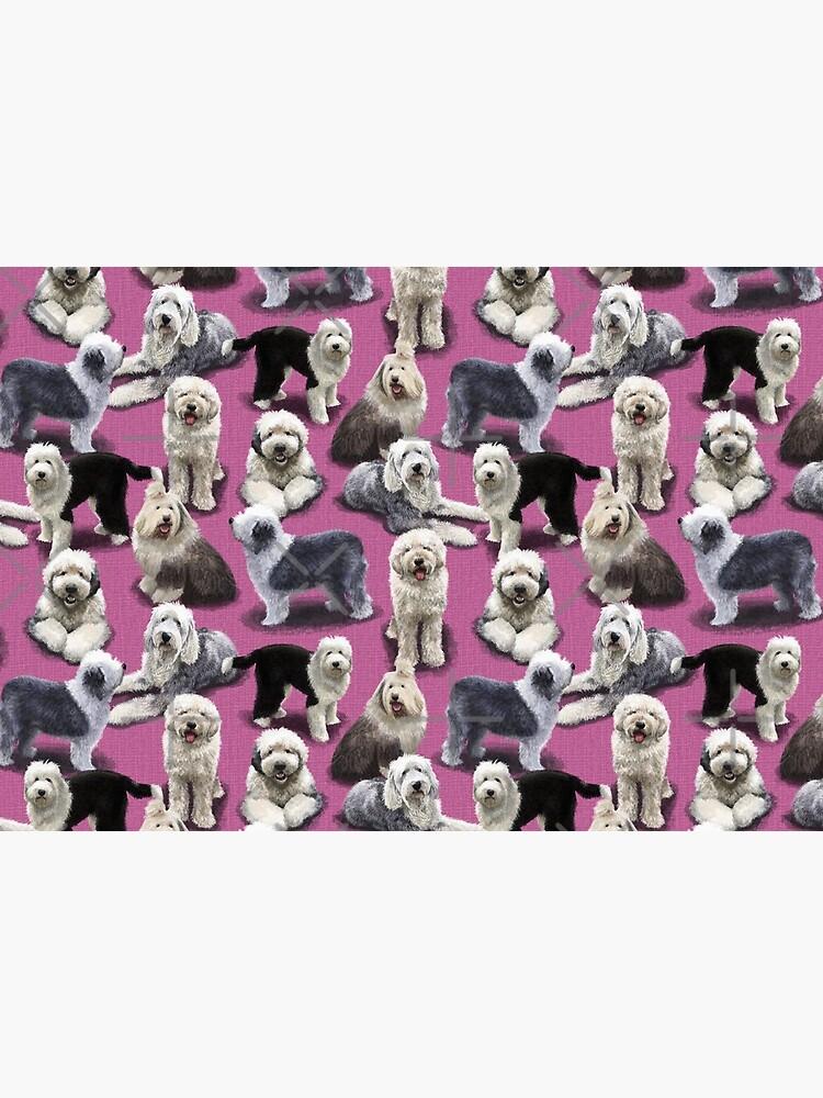 Old English Sheepdog Pink by elspethrose
