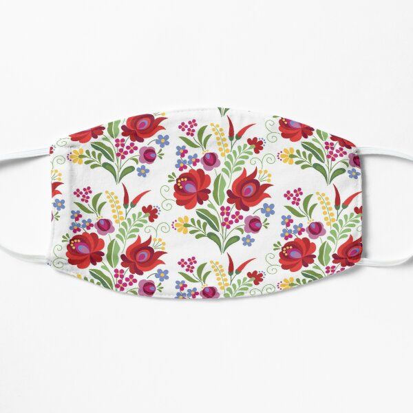 Hungarian Folk Design Red Peppers on White Mask