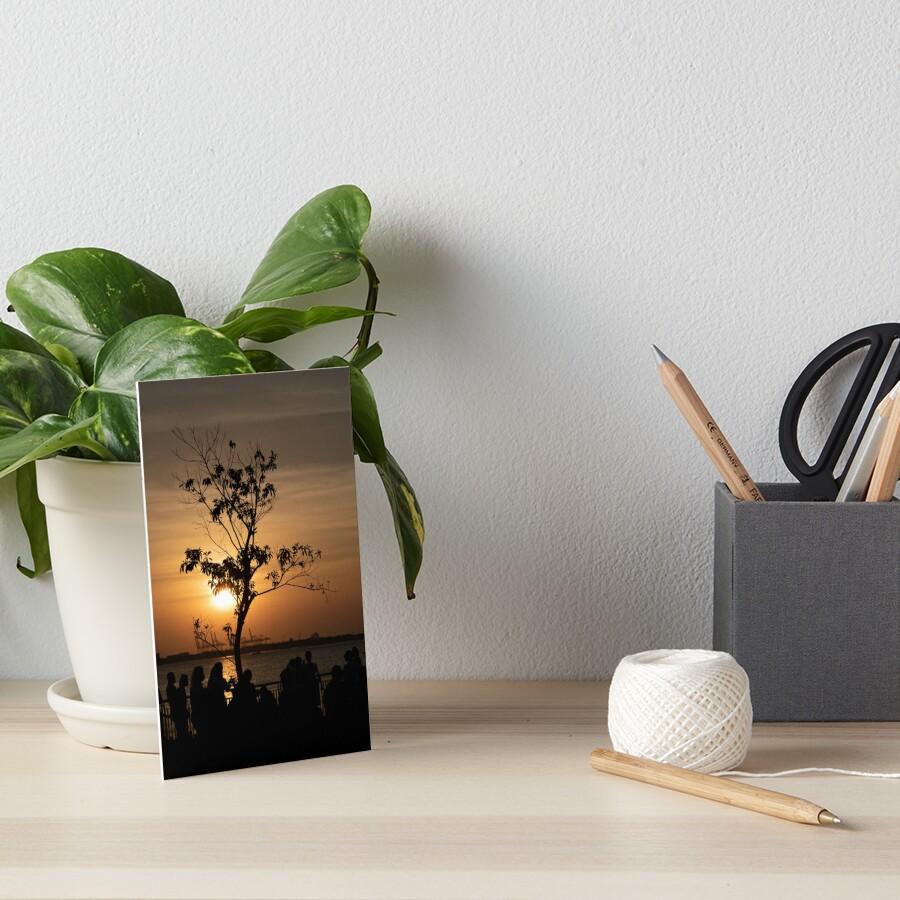Tamsui Sunset Art Board Print