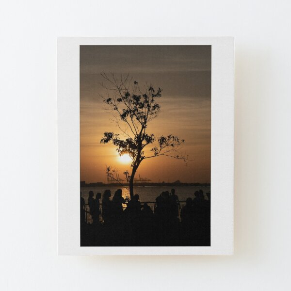 Tamsui Sunset Wood Mounted Print