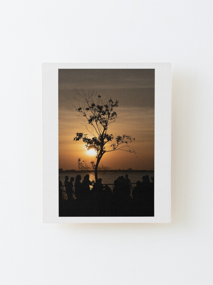 Alternate view of Tamsui Sunset Mounted Print