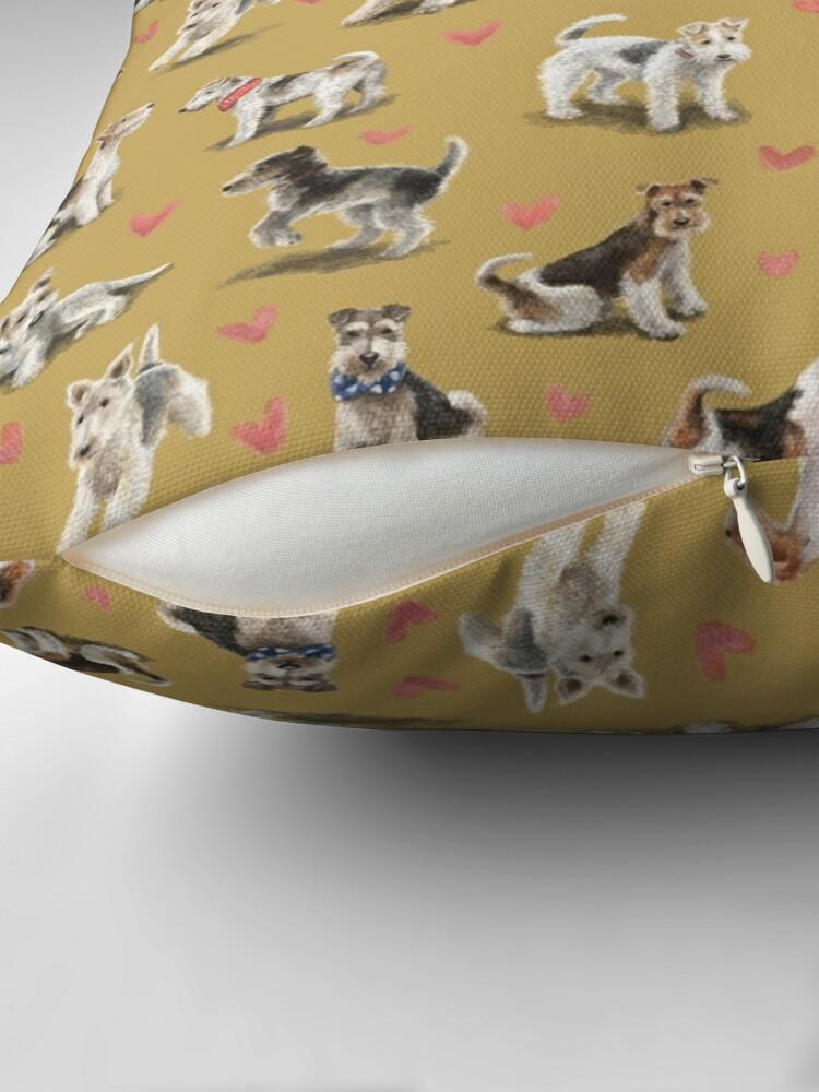 Alternate view of The Fox Terrier Throw Pillow