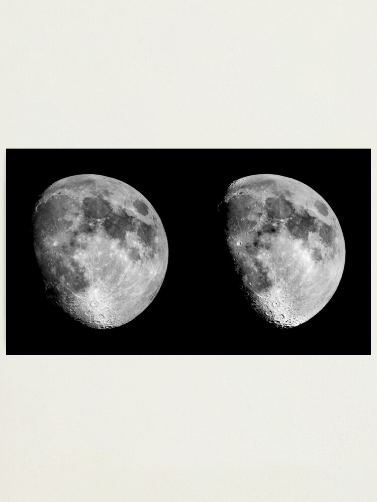 Alternate view of Moon in 3D Photographic Print