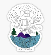 Einstein: Natur Sticker