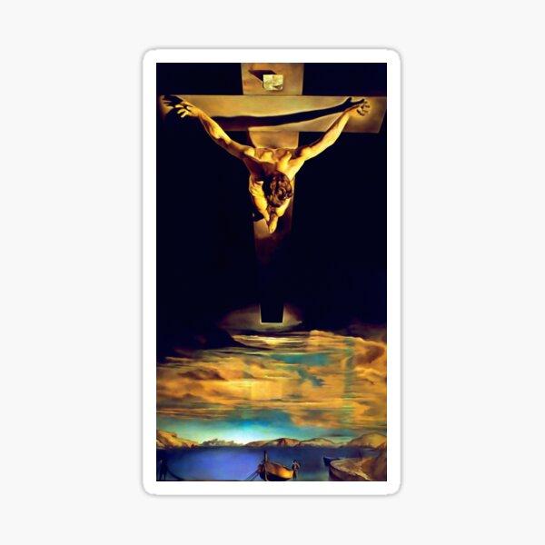 Dali - Christ of Saint John of the Cross 1951 - Artwork Reproduction Sticker