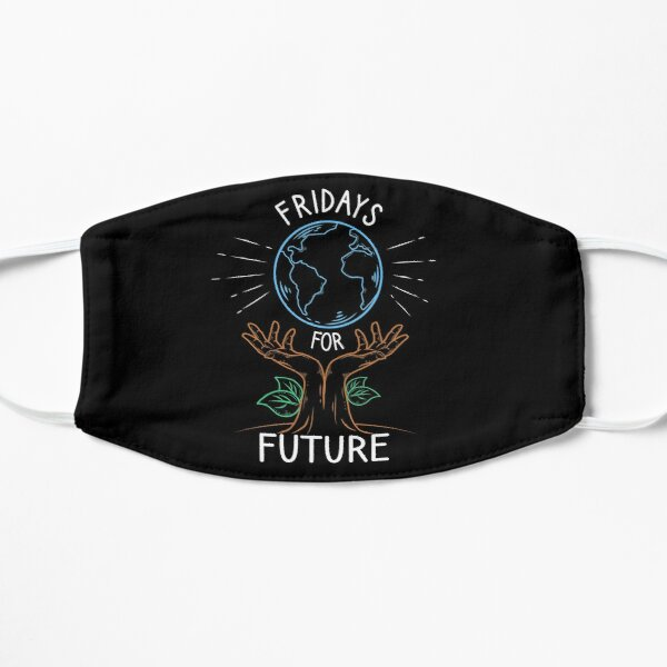 Fridays for Future Umweltschutz Aktivist Flache Maske