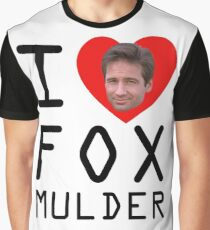 I Heart Fox Mulder Graphic T-Shirt