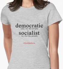 Democratic Socialist Bernie Sanders Women's Fitted T-Shirt
