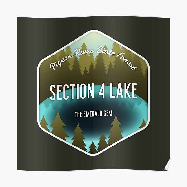 Section 4 Lake Poster