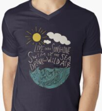 Emerson: Live in the Sunshine Men's V-Neck T-Shirt
