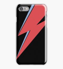 Ziggy Stardust - Lightning - On Black Star  iPhone Case/Skin