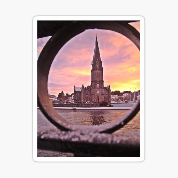 An early morning view of the Cathedral Sticker