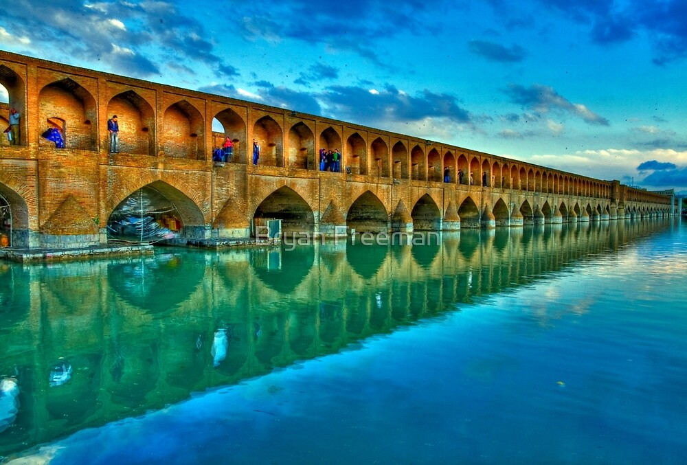 Si-o-Seh Pol (Bridge) - Isfahan - Iran - Daylight by Bryan Freeman