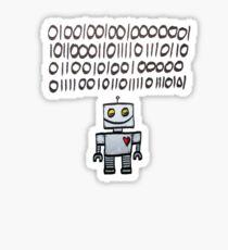 Binary Valentine Sticker