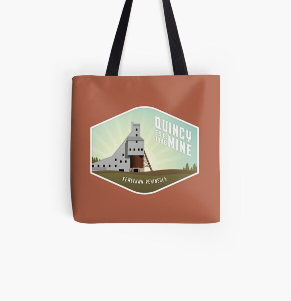 Quincy Mine All Over Print Tote Bag