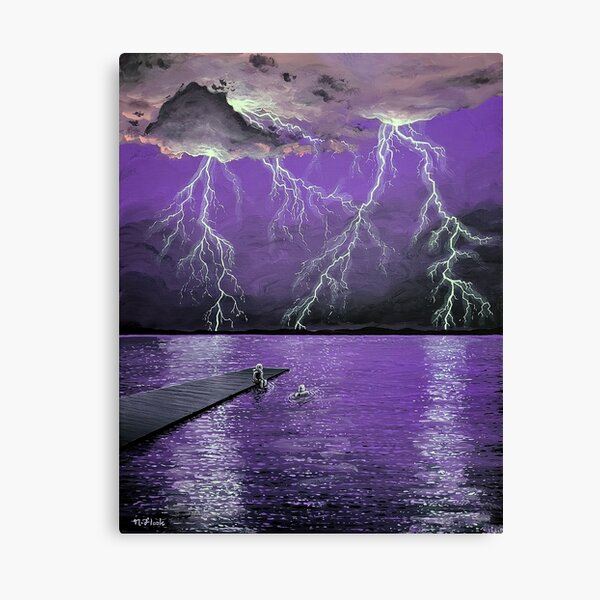 Electric Pool Party Canvas Print